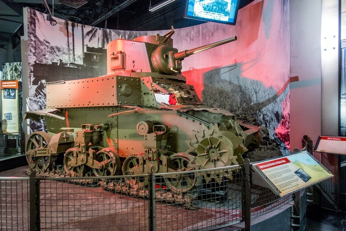 Australian tank at the National Museum of the Pacific War in Texas