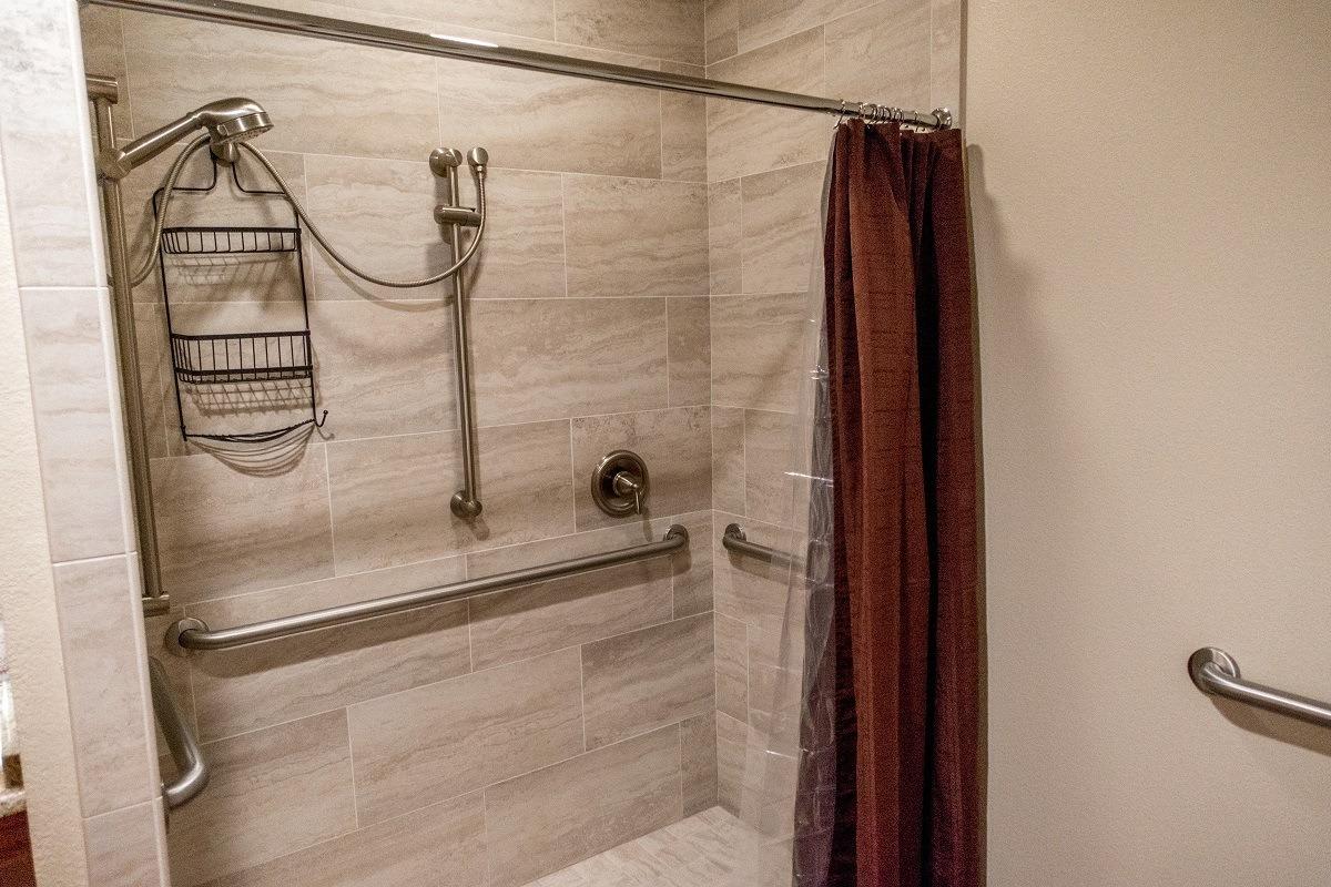 The bathroom at the Manor Haus B&B at the Messina Hof winery in Fredericksburg, Texas