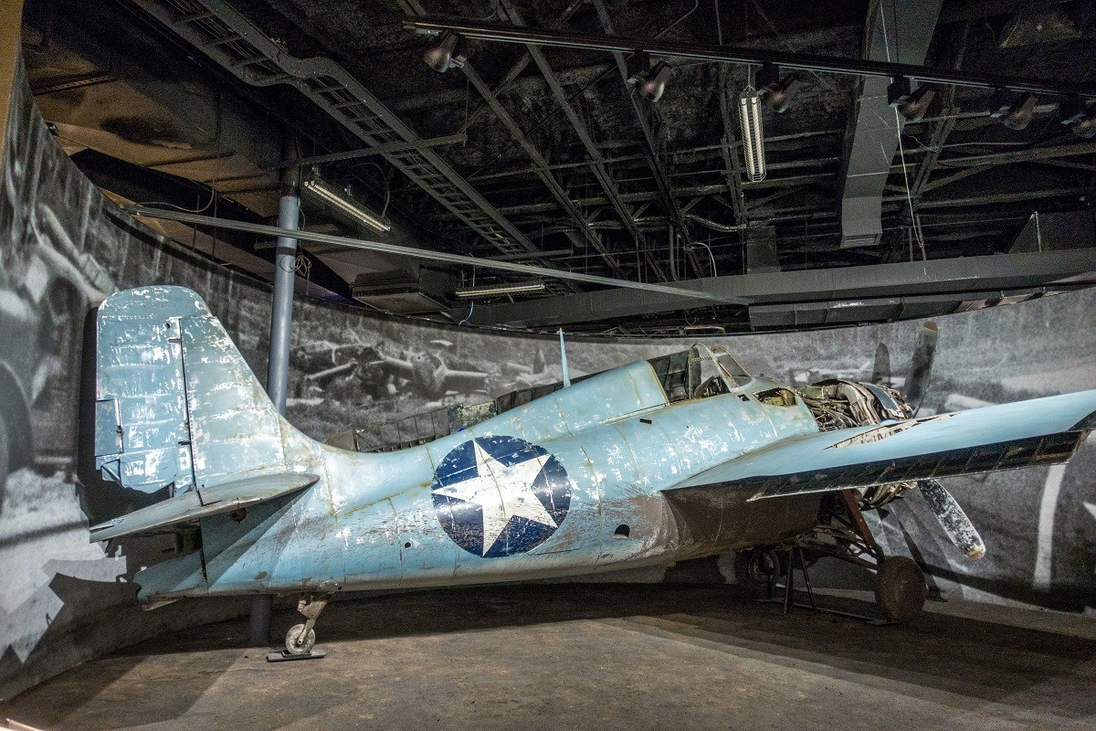Wildcat plane on display at the National Museum of the Pacific War in Fredericksburg, Texas