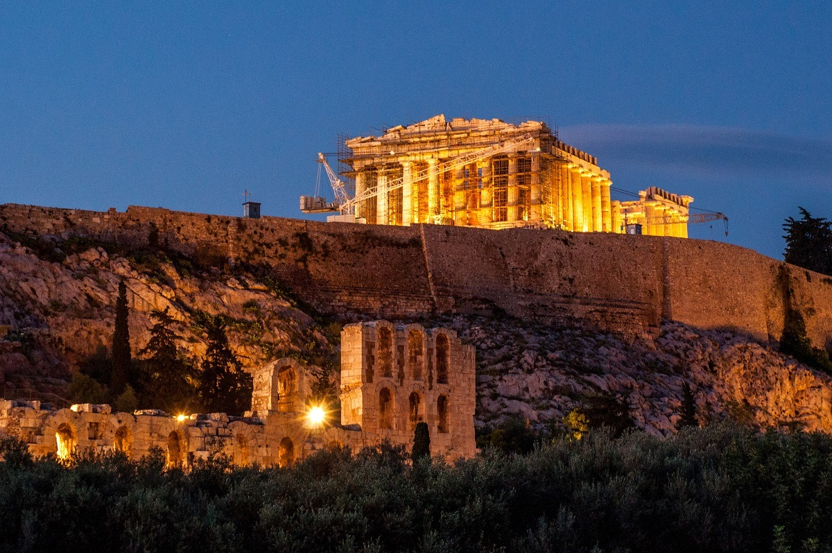 Dinner with a view of the Parthenon can be an amazing experience in Athens, Greece