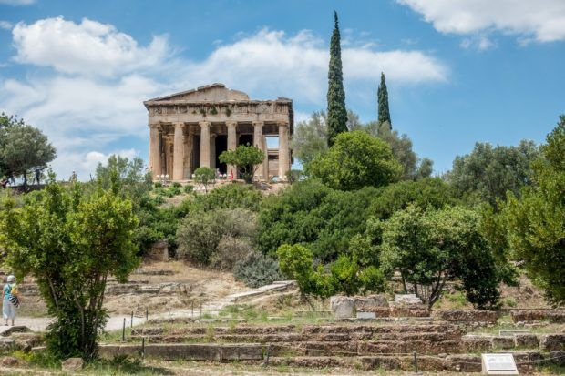 The Temple of Hephaestus in Athens' Ancient Agora is a great site from ancient times