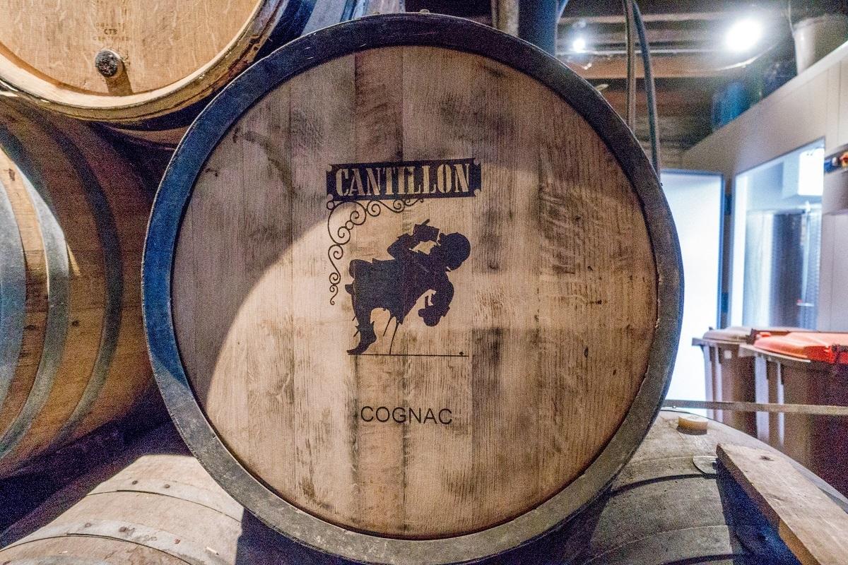 Barrel of Cantillon beer aging at Cantillon Brewery in Belgium
