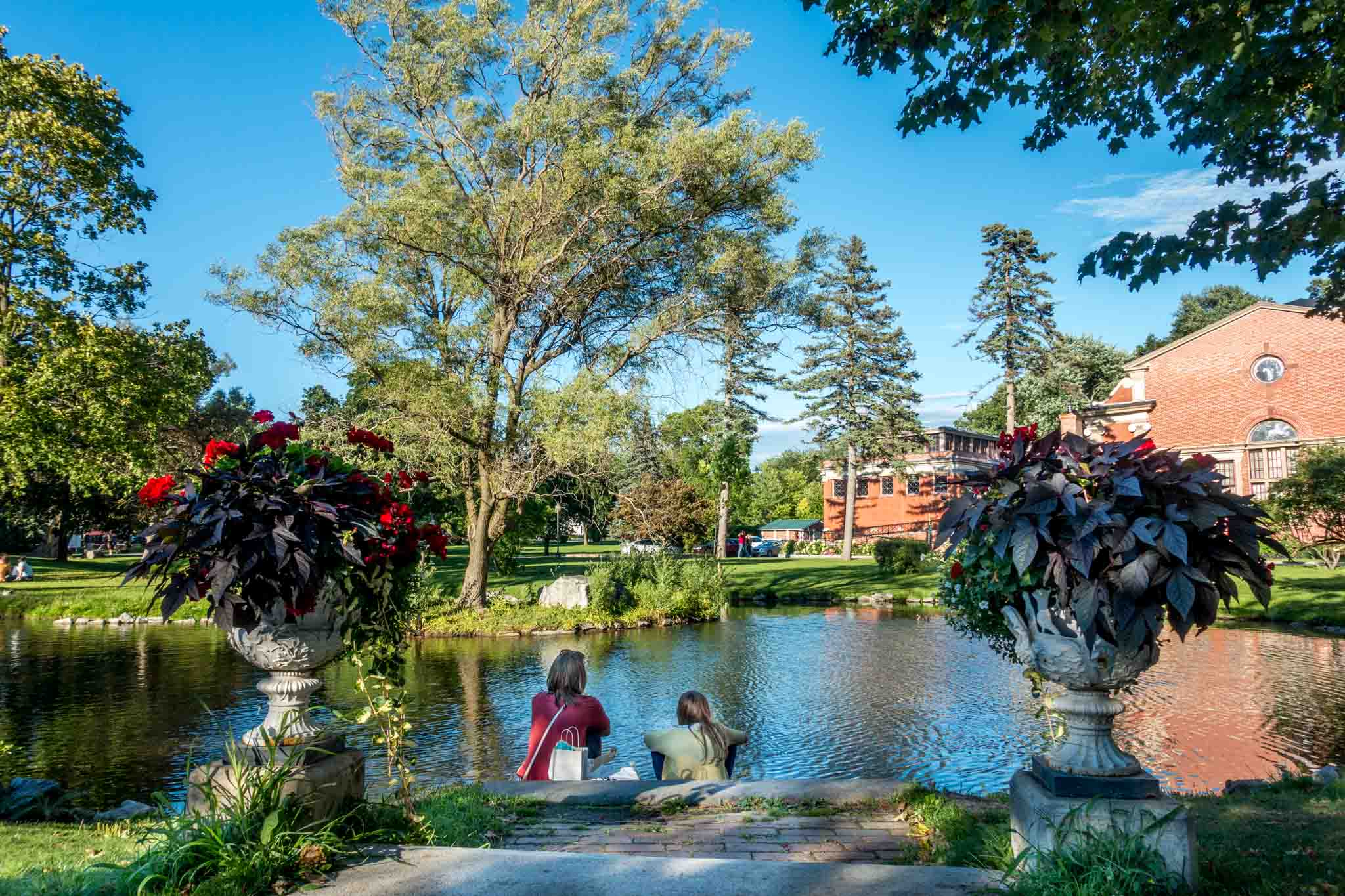 Visiting Congress Park is one of the best things to do in Saratoga Springs, New York