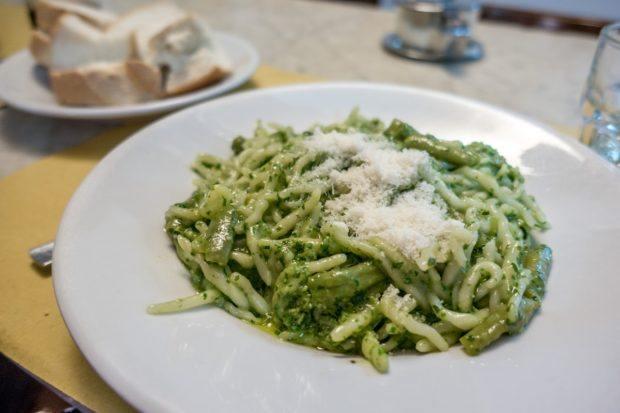 Pesto alla Genovese is a classic Genoa food