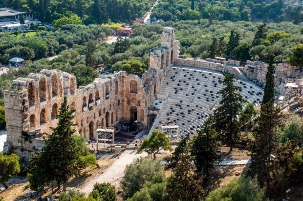 The Theater of Herod Atticus on the Acropolis in Athens