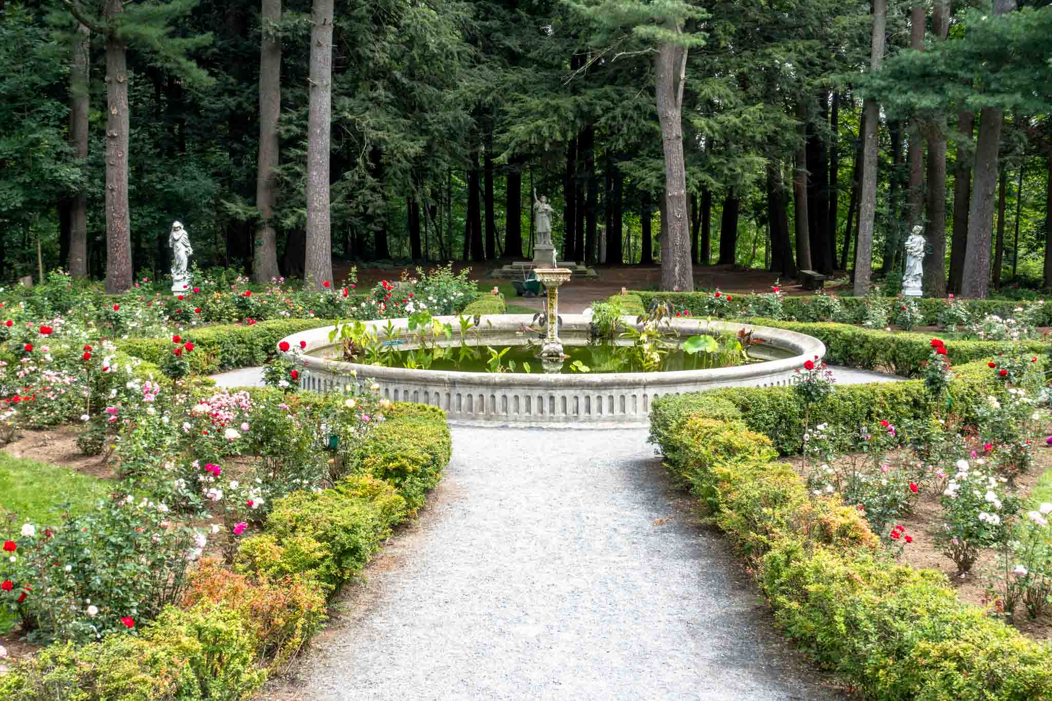 Gardens with fountain