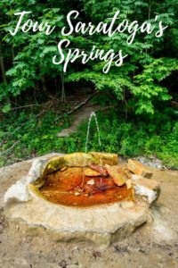 A tour of the mineral springs of Saratoga Springs, New York