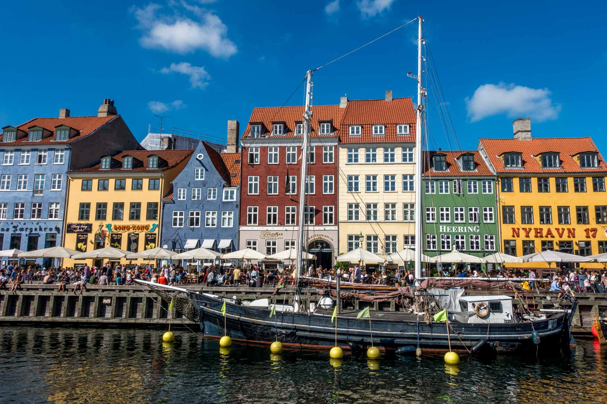 Nyhavn is a Copenhagen must see on a sunny day