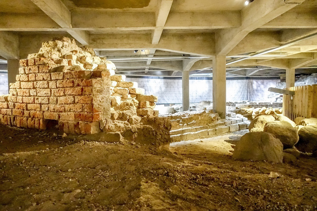 The ruins under Christiansborg Palace. Visit them as part of a Copenhagen 3 day itinerary