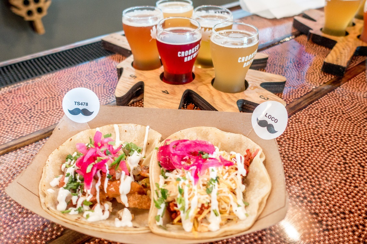 The perfect combination of tacos and beer at Crooked Run Brewery and Senor Ramon Taqueria
