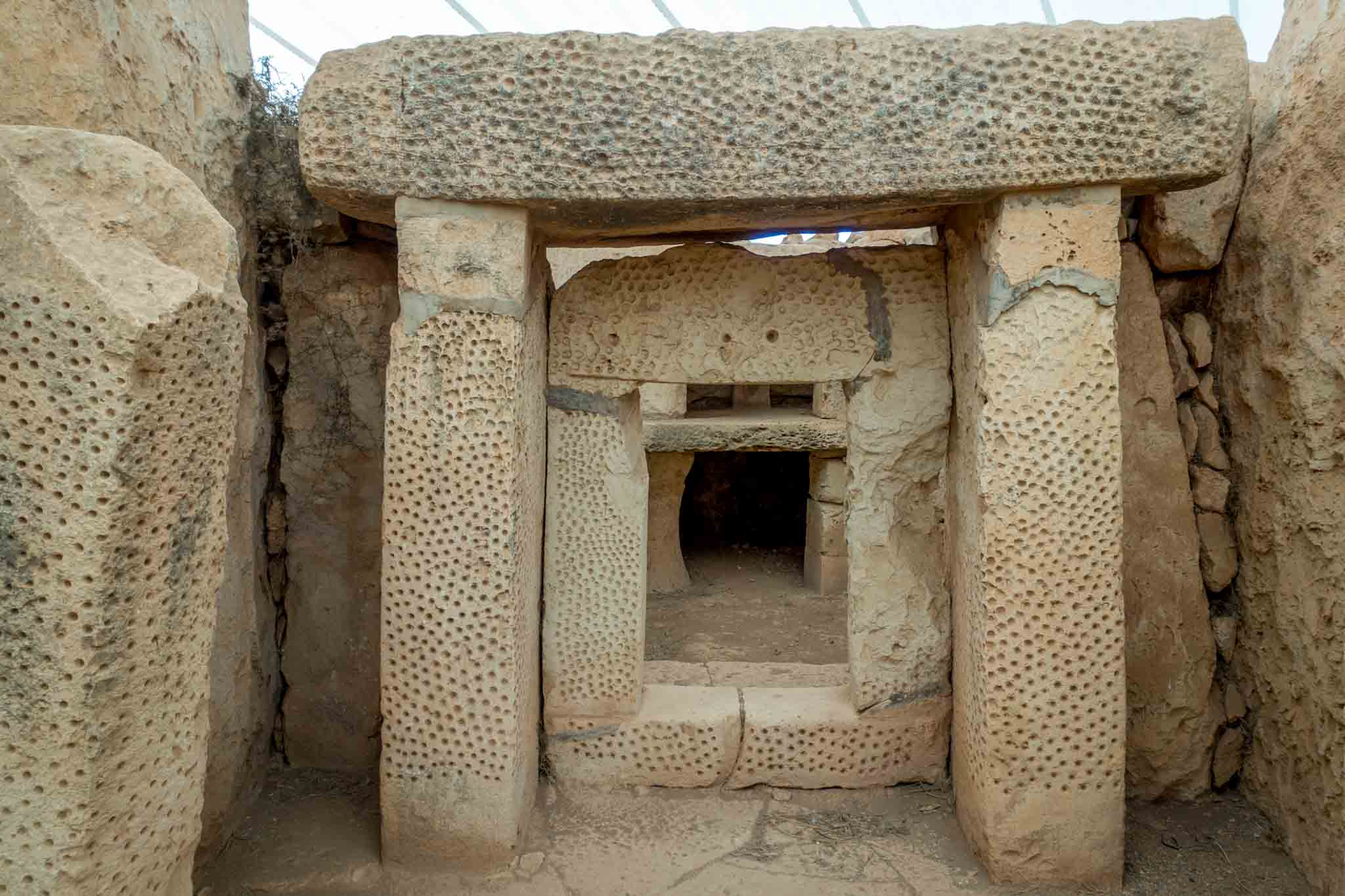 Hagar Qim, one of the Megalithic Temples of Malta