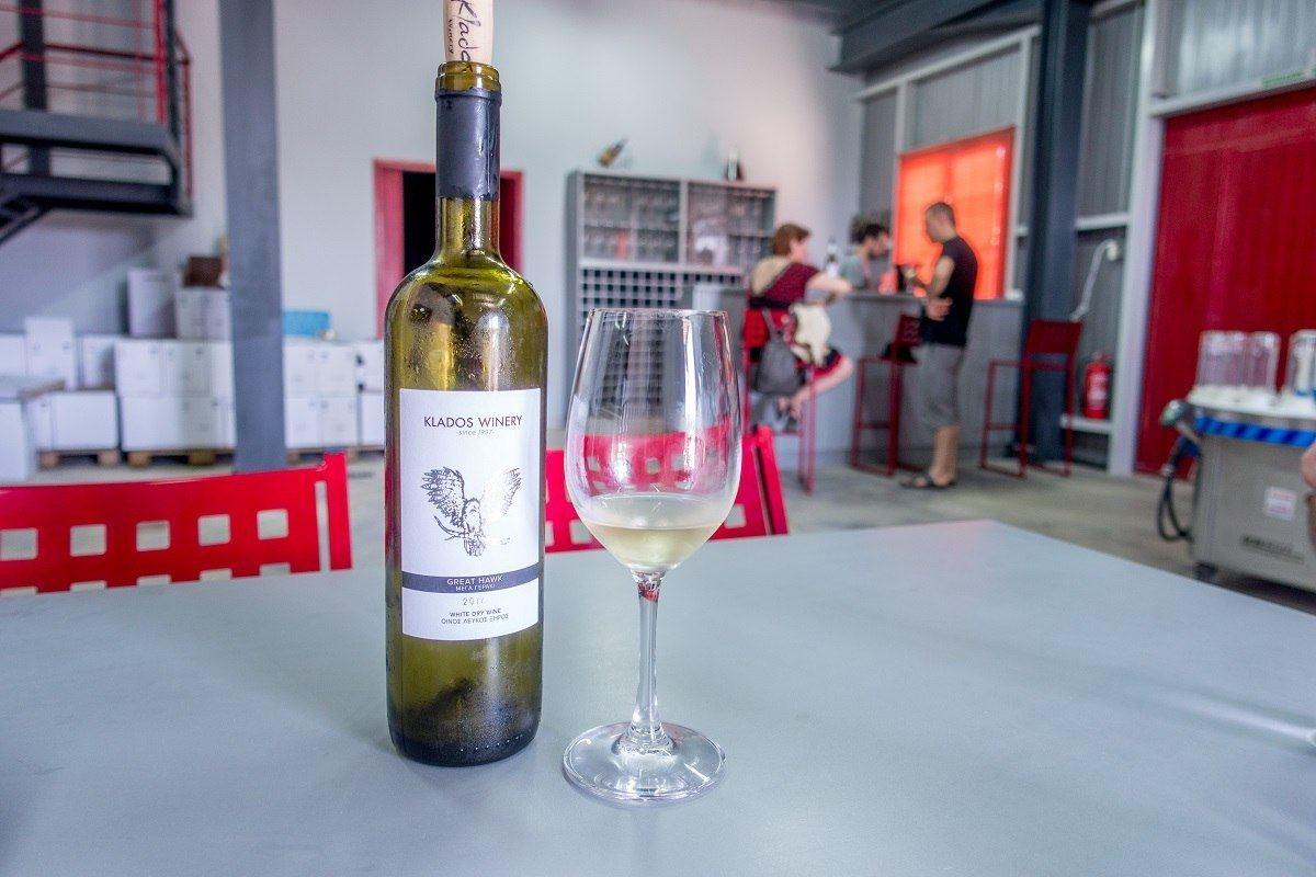 Wine tasting at Klados Winery in Crete, Greece