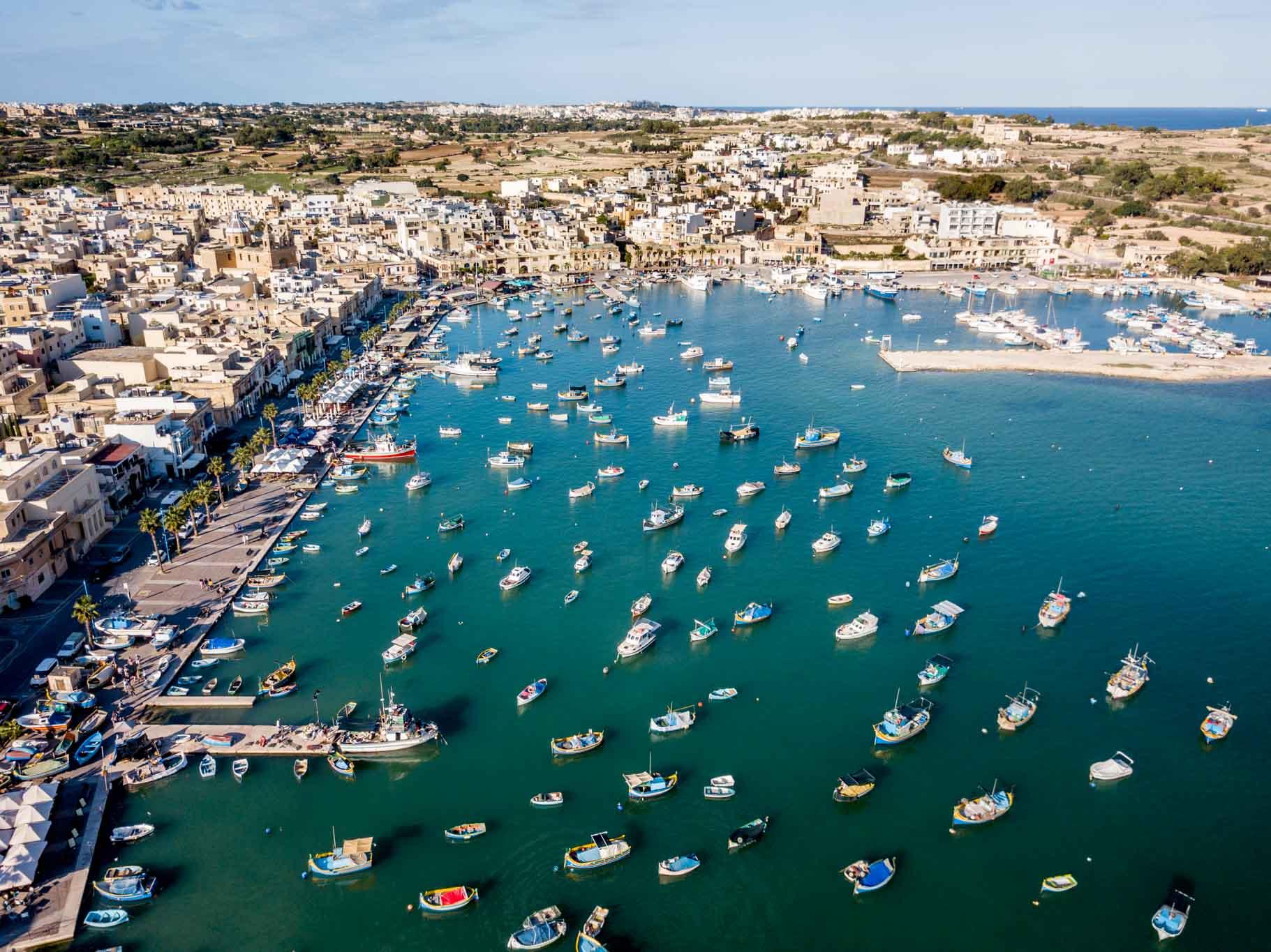 Marsaxlokk, Malta, a traditional fishing village