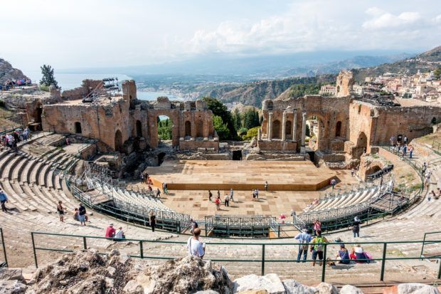 Ancient theater at Taormina, Sicily
