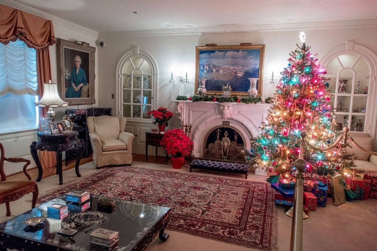 Christmas decorations at Eisenhower National Historic Site