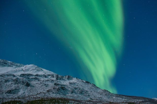 The Northern Lights over Tromso, Norway