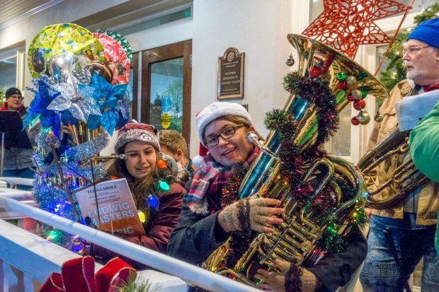 The Tuba Carol Festival is an annual event in Gettysburg, Pennslyvania