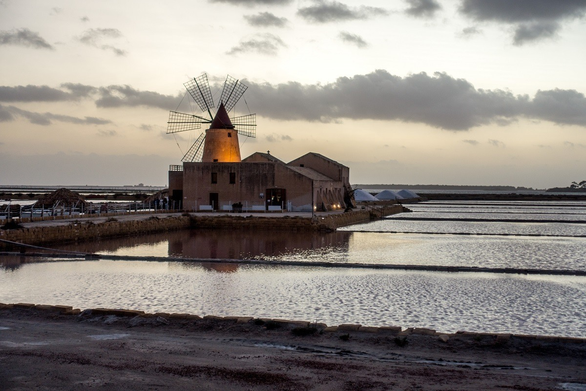 Salt pans and mill of Trapani, Sicily
