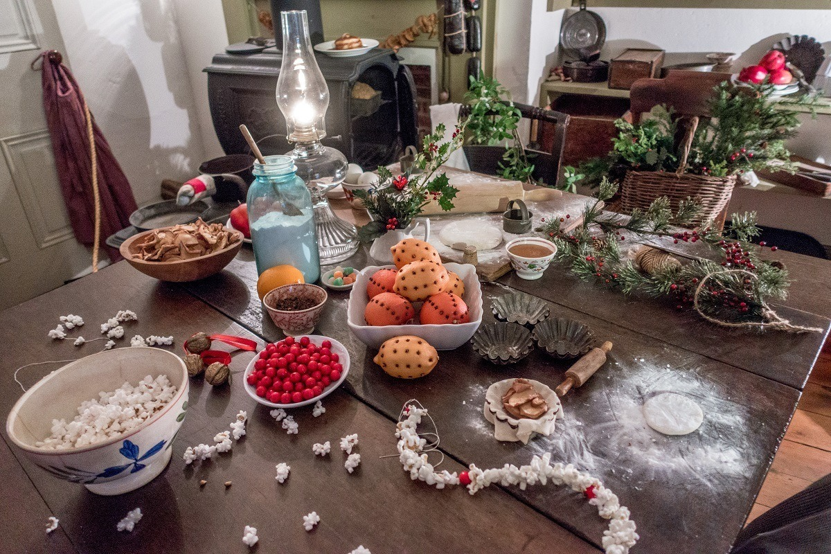 Christmas decorations at the Shriver House Museum