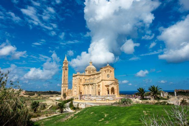 Cathedral of Ta Pinu' in Gozo is one of the cool things to see in Malta