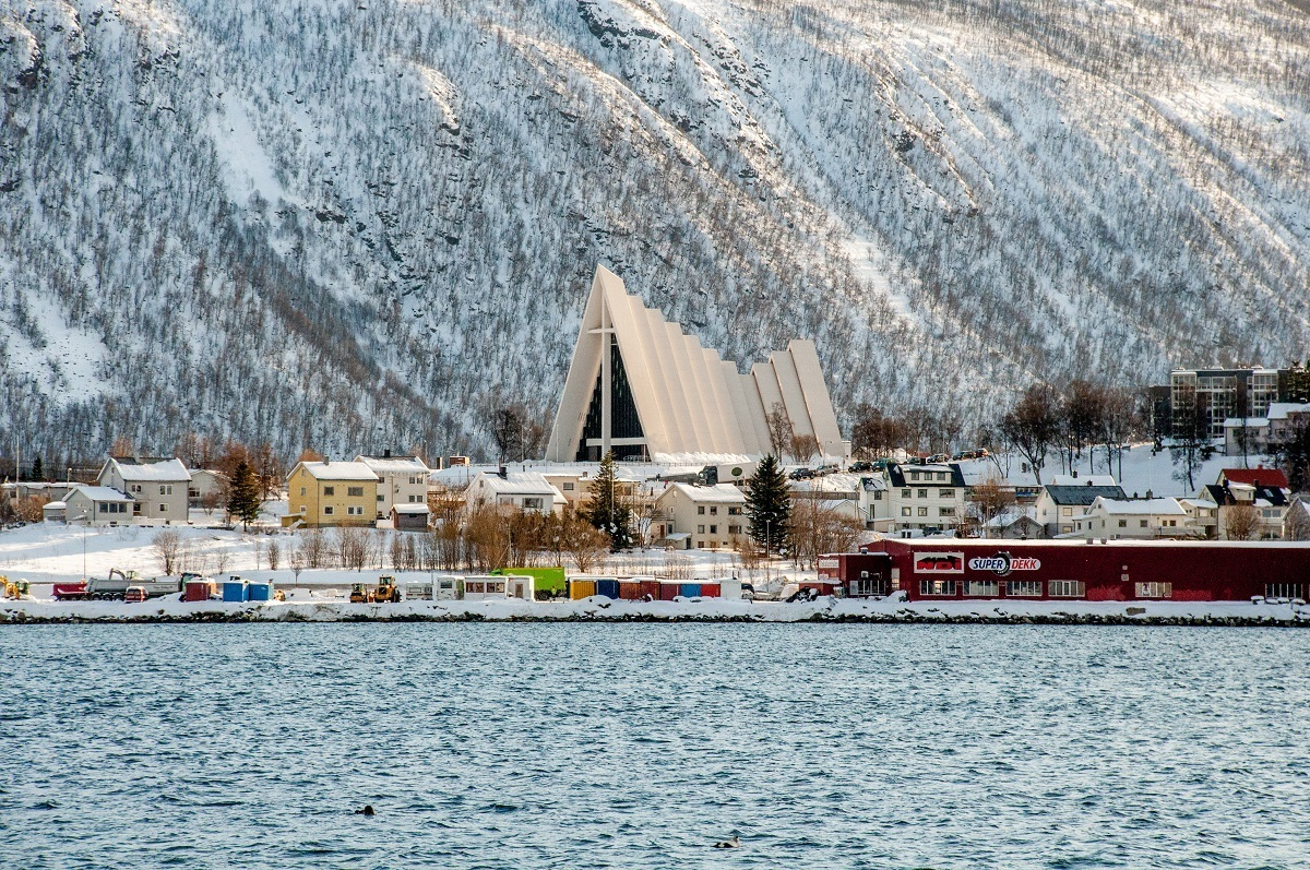 There are lots of things to do in Tromso during the day, including visiting the Arctic Cathedral.