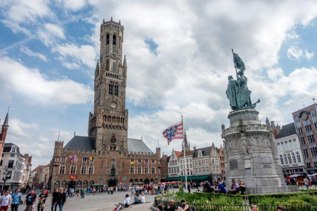 The Market Square (Markt) is a must-visit when you travel to Bruges, Belgium
