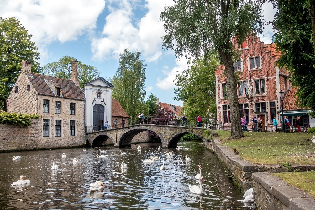 Ghent and Bruges both have lovely canals. Cruise through Minnewater Lake in Bruges.