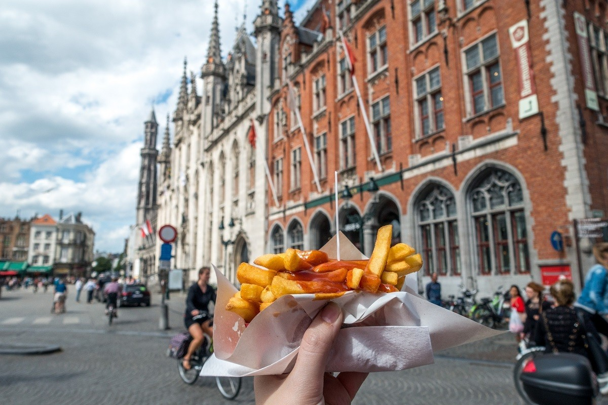 Try the frites when you visit Brugge Belgium