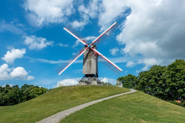 The windmills are one of the more unexpected Bruges sites
