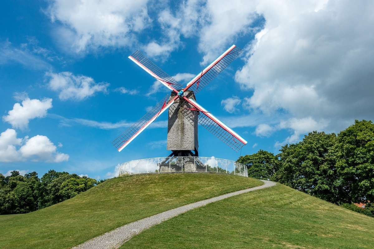 Visiting the windmills is one of the unexpected Bruges activities