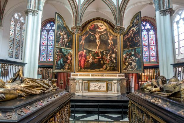 Visiting Our Lady of Bruges is one of the top things to do in Bruges Belgium.