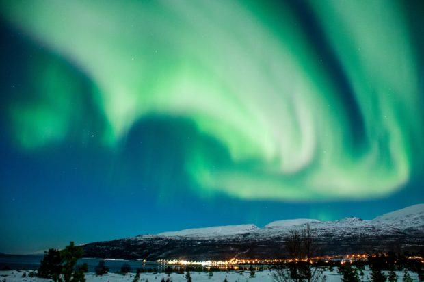 The northern lights Tromso.