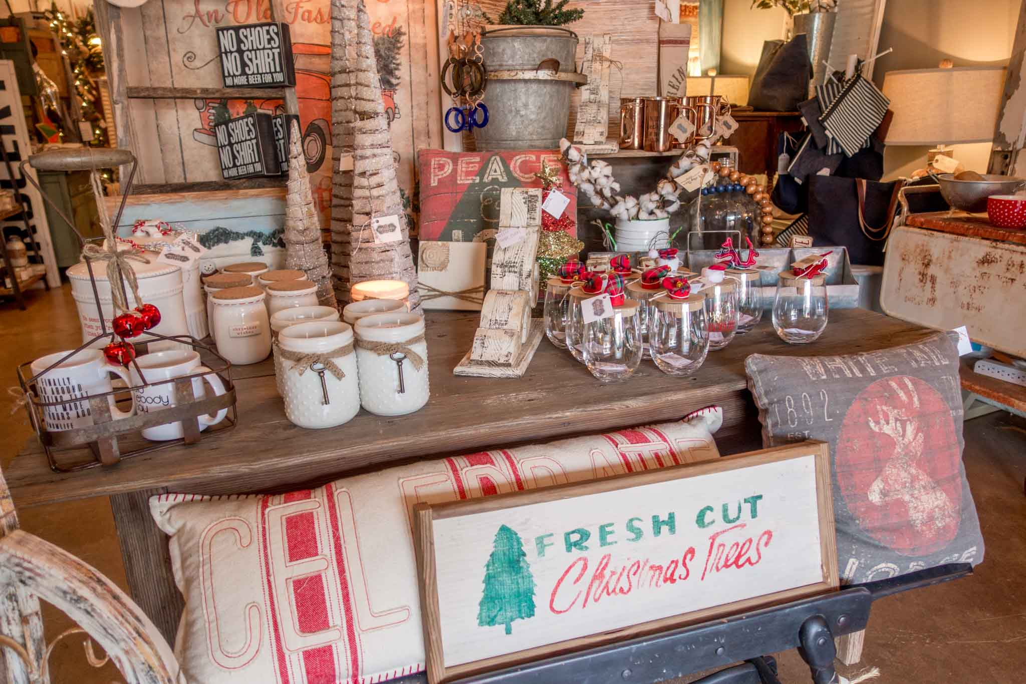 Check out the great shops like Vintage Chic Market in downtown Winston Salem, North Carolina