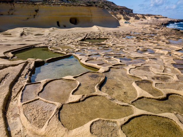 Seeing the salt pans is one of the unique things to do in gozo