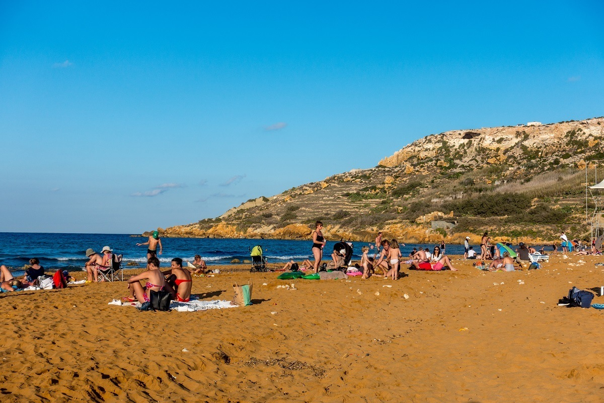 Visiting the red sand of Ramla Bay is one of the top things to do in Gozo