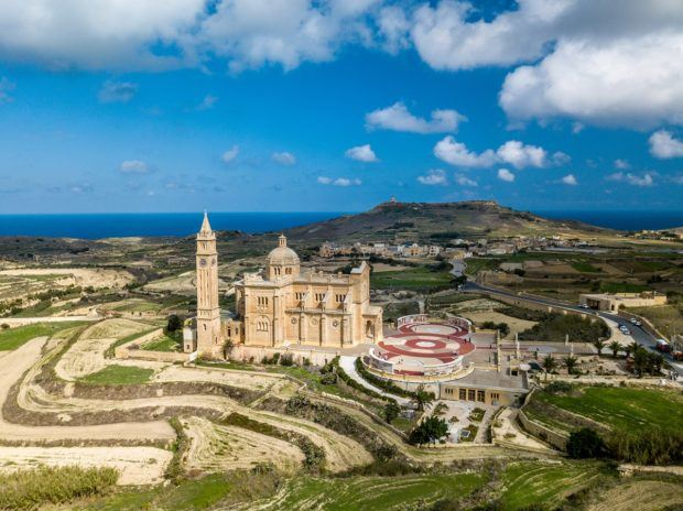 Ta' Pinu Basilica in Gozo is basically in the middle of nowhere