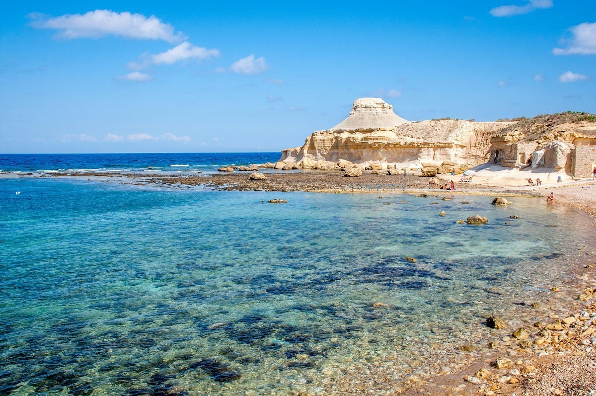 Xwejni is one of the rocky Gozo beaches with a killer view