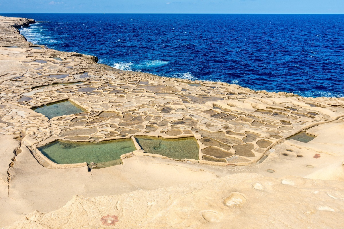 The cool coastal salt pans are what to see in Gozo