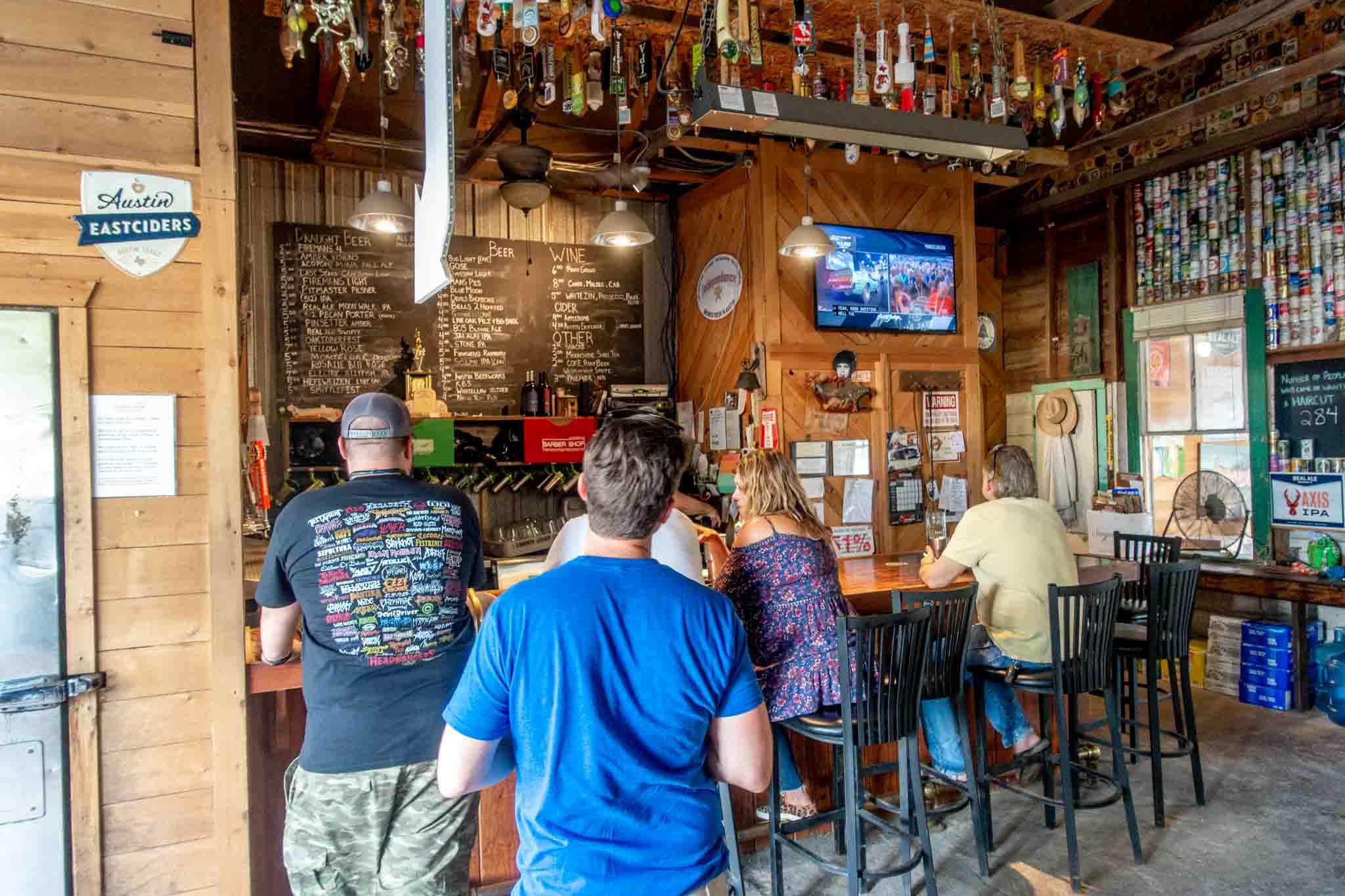 People at a beer bar