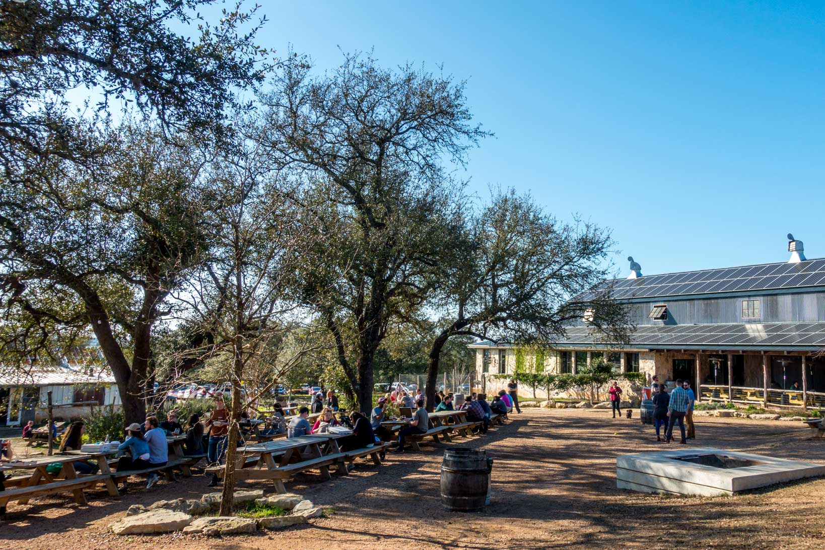 People spending time at Jester King Brewery