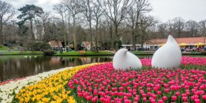 Keukenhof gardens a half-hour from Amsterdam is a gorgeous spot that's one of the Netherlands most famous attractions