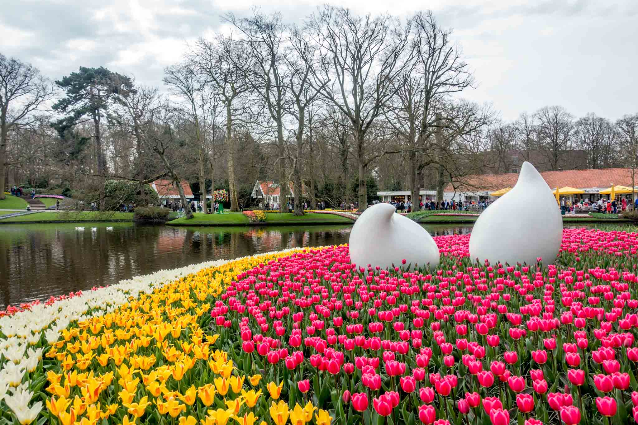 Keukenhof gardens a half-hour from Amsterdam is one of the Netherlands' most famous attractions
