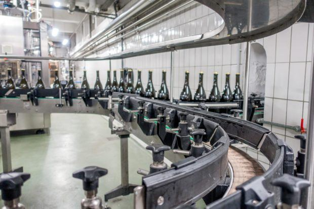 Bottling line at Bernard-Massard winery in Grevenmacher Luxembourg