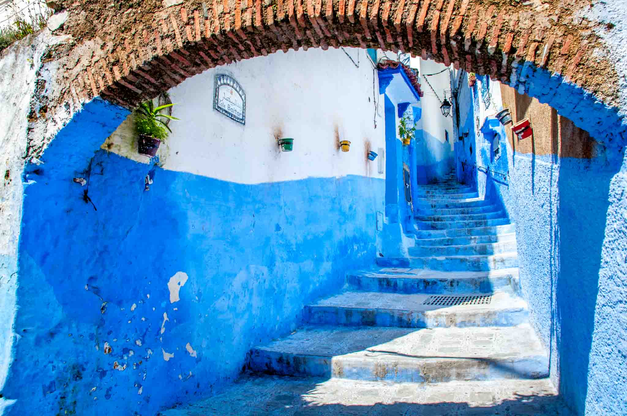Even the stairways in Chefchaouen, Morocco, are pretty