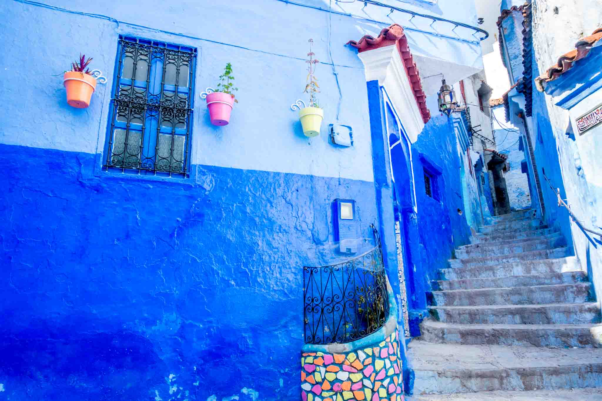 One of the beautiful walkways in Chaouen Morocco