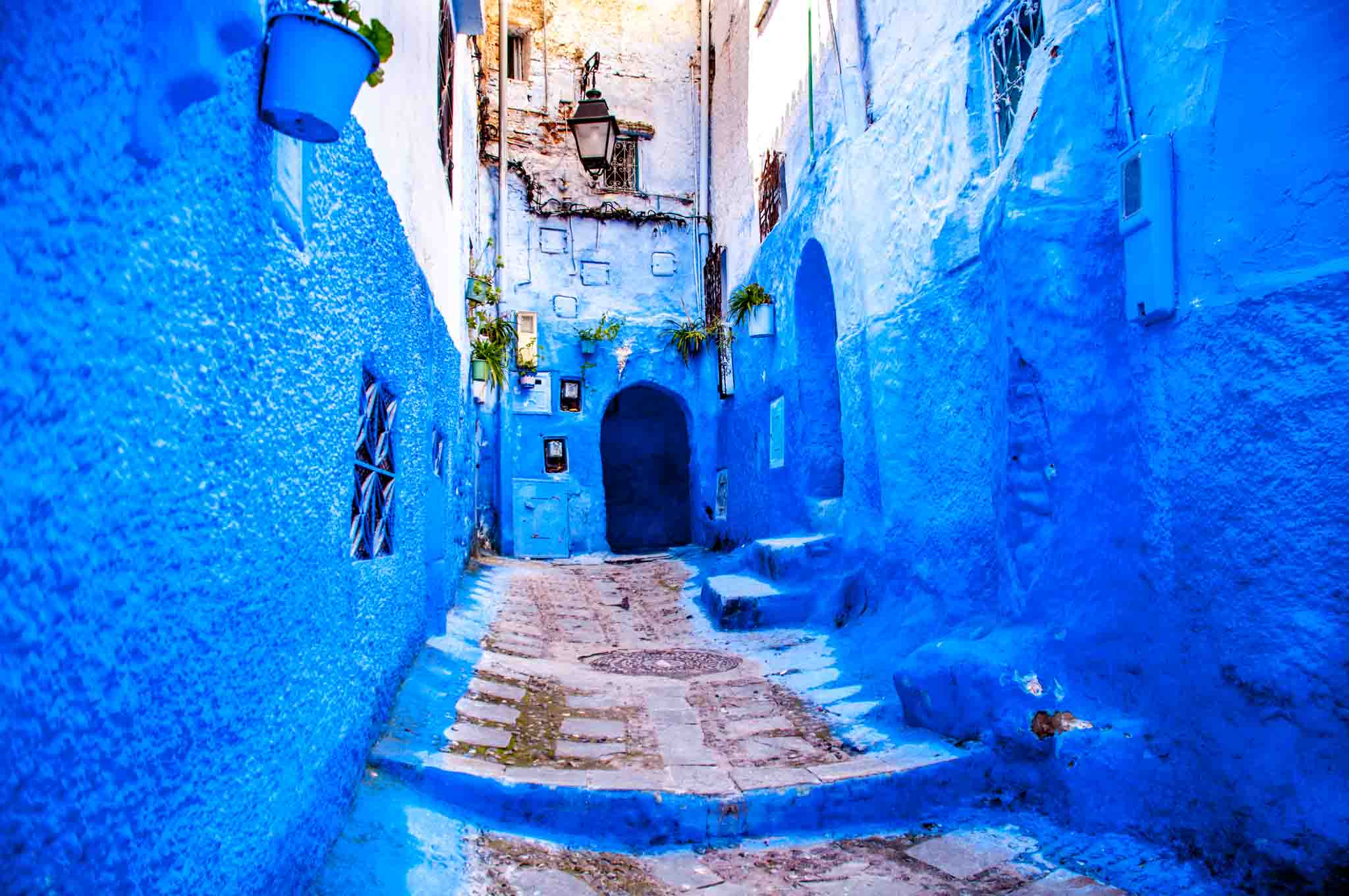 Alleyway in the Blue Pearl, Chefchaouen, Morocco