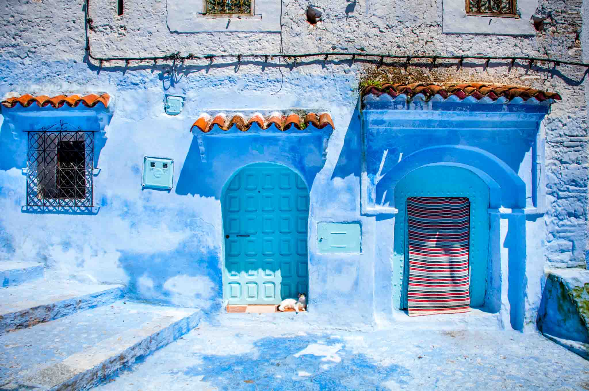 Blue doors in Morocco's blue city