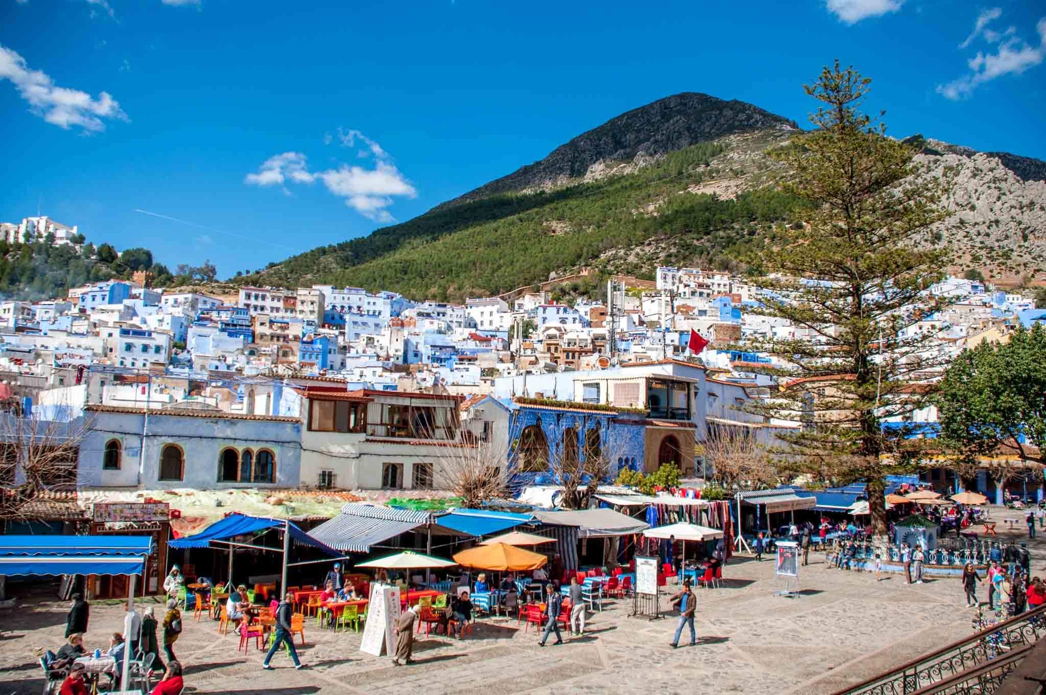 Women traveling to Morocco solo may feel most comfortable in a smaller city like gorgeous, blue Chefchaouen