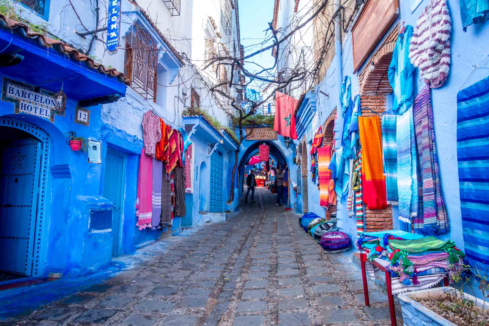 Chefchaouen in northern Morocco is one of the highlights of a two week Morocco itinerary