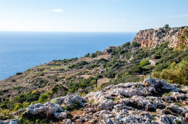 Visiting the Dingli cliffs is nice but not one of the must do Malta activities on 4 days in Malta